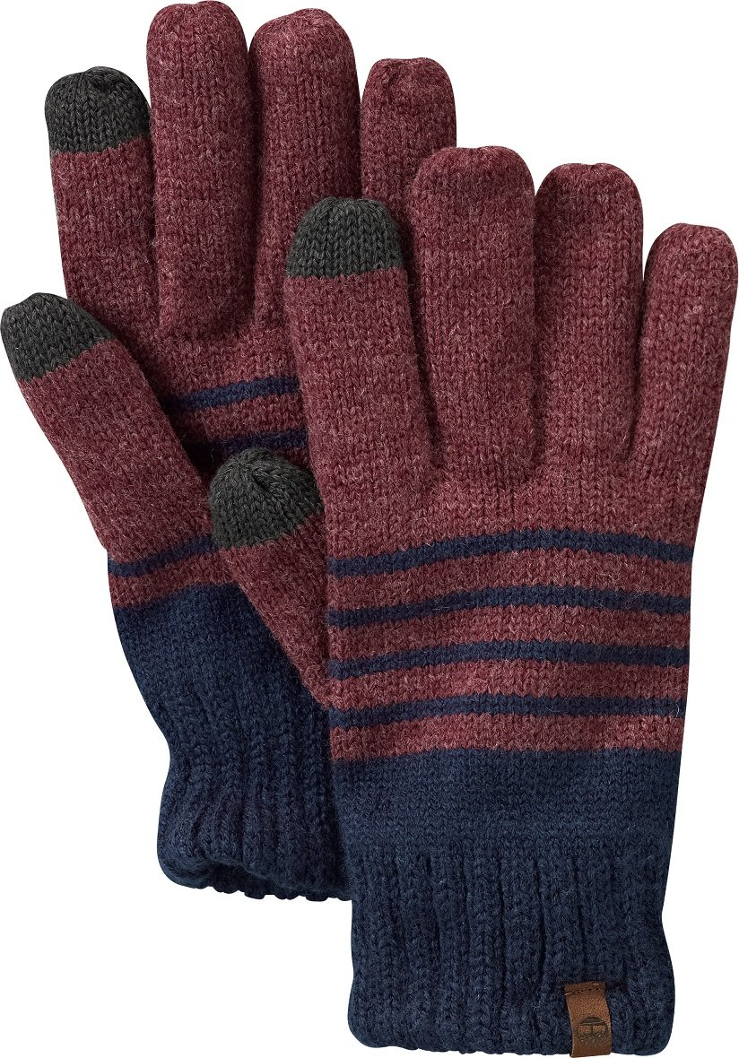 STRIPPED KNIT GLOVE