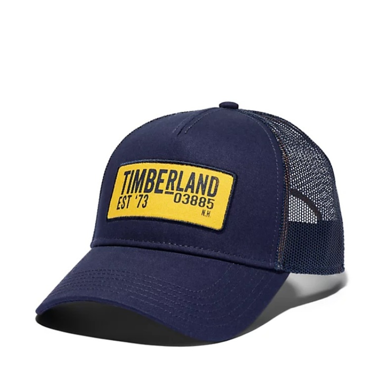 Trucker with Printed Logo Patch.