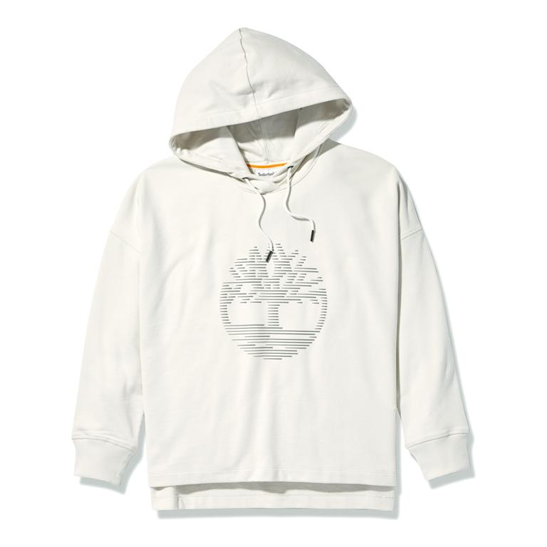 Relaxed Fit Hoodie with Reflective Logo