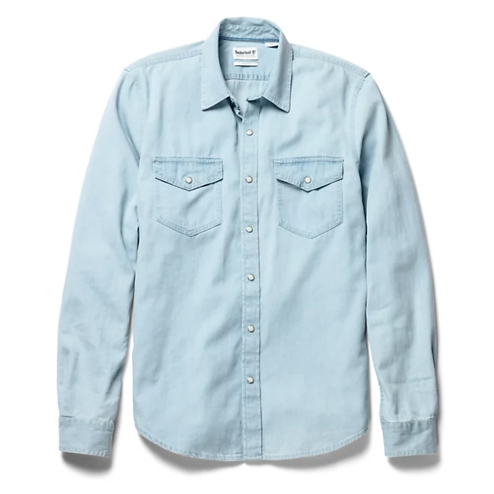 Рубашки LS Mumford River Denim Shirt Slim фото